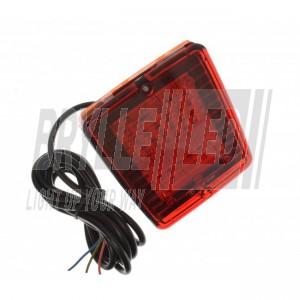 Square LED baglygte