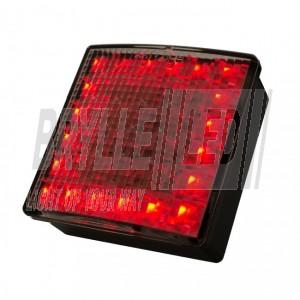 Kvadratisk LED baglygte