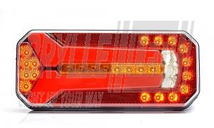 LED baglygte med dynamisk blinklys