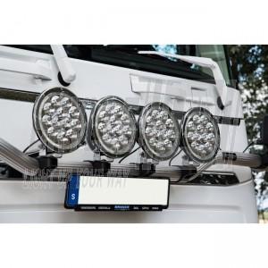 """Blixtra 9"""" LED fjernlygte med positionslys"""